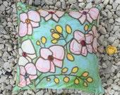 Cushion, pillow cushion, ziba orchid cushion, decorative cushion, decorative pillow, housewarming, gift for her, wedding present