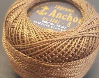 Anchor Crochet Pearl Cotton 10g – mocha