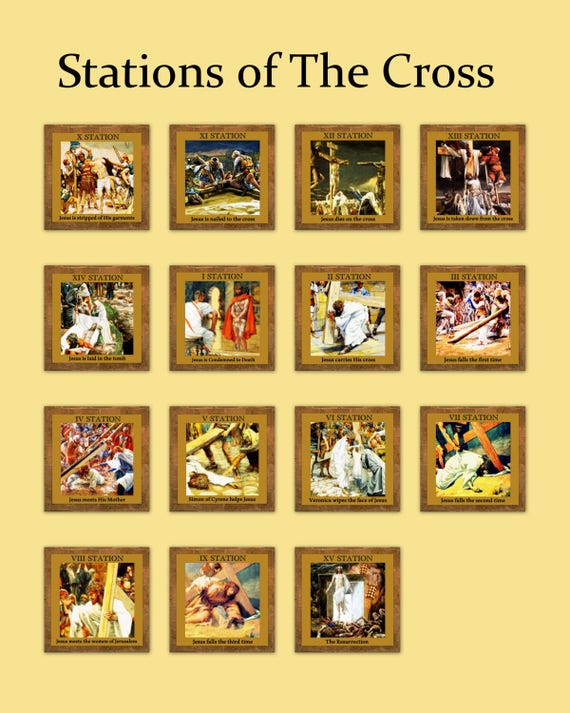 It is a picture of Universal Stations of the Cross Catholic Printable