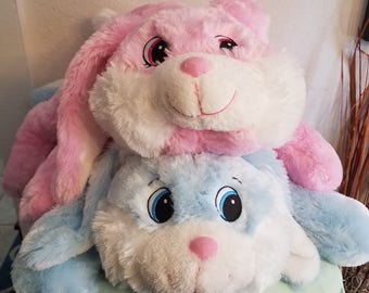 SALE!!! was 24 now 10   Plush Big Eyed Bunny, Vinyl, Embroidery, Hare, Rabbit, Easter, Gifts
