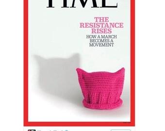 Pink hat pussyhat knit hat womens march hat
