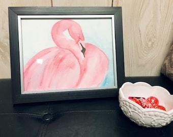 Home decor- pink- bird- original