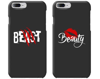Beast & Beauty Couple Phone Case Mate - iPhone, Samsung Galaxy Phone Cases for Couples - Matching Phone Case