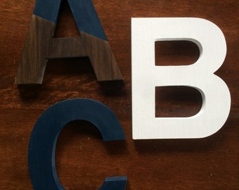 AVAILABLE: Wooden Decorative Letters / Chalk Paint / Stain / Distressed / Shabby Chic / Wall Décor / Annie Sloan / 8 inches / Pine