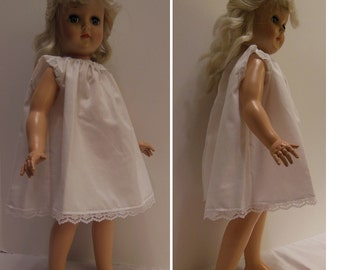 "White Cotton Under Slip for 20"" P-93 Toni Dolls"