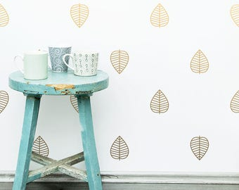 Leaf Wall Decals - Vinyl Wall Decals, Nursery Wall Decals, Kids Room Decal, Leaf Wall Stickers, Woodland Nursery Wall Decor