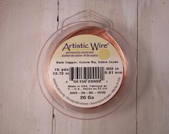 Artistic Wire - 20 gauge - Bare Copper - 15 yards