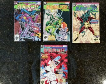 DC Comics BLOODLINES EarthPlague/Deathstorm 1993- Detective Comics Annual, Green Arrow Annual, Justice League America Annual, Eclipso Annual