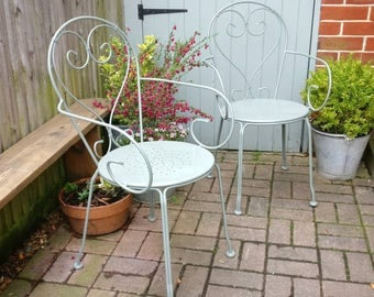 Beautiful pair of vintage garden chairs