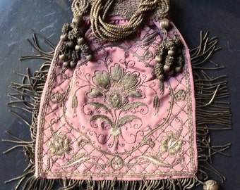 Old bag hand embroidery, possibly 19th CENTURY, French