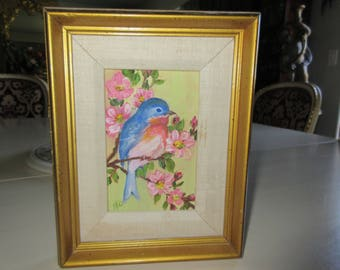 ORIGINAL PAINTING of BIRD