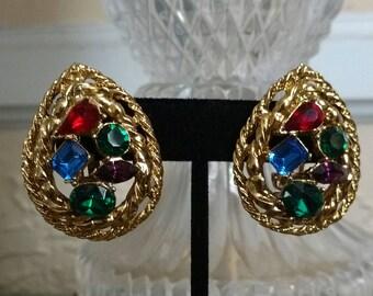 Vintage M. Jent Clip On Earrings