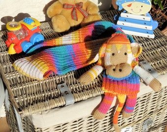 Children's Multicoloued Monkey Scarf