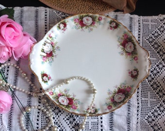 RESERVED  Royal Albert Celebration sandwich plate. Unused perfect condition . First quality .
