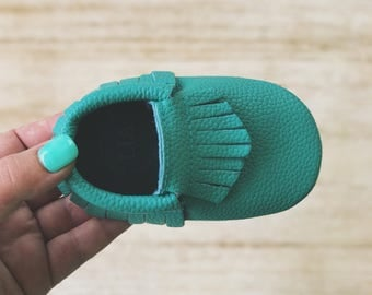 Turquoise Blue Baby Moccasins Leather Toddler Moccs Baby Leather Moccasins Baby Moccs Baby Shoes Moccs Leather Toddler Moccasins Baby Moccs
