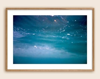 "Underwater Photography Print - Sea Photography - Ocean Photography - ""The Sea is The Sky is The Sea"""