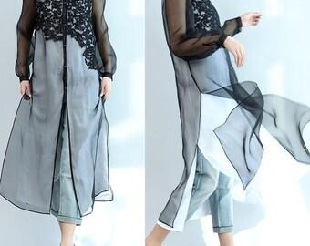 women cotton shirt/women leisure shirt/women long blouses/women vintage blouse/women long sleeve blouses/QZ03T1538