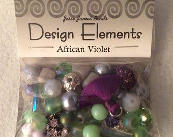 Design Elements Packaged Beads - African Violet