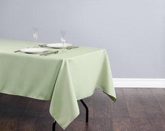 60 x 126 inch Rectangular Sage Tablecloth Polyester | Wedding Tablecloth