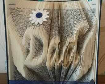 Angel wings for Full size Alphabets book folding pattern