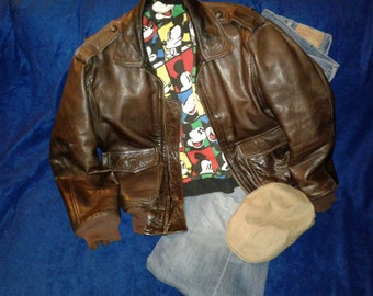 Vintage Nordstrom leather jacket size 40 free shipping