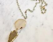 LAST CHANCE | CLEARANCE | Arrowhead Agate Rosary Necklace