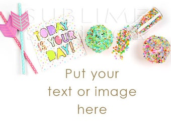 Party Stock Image / Party Styled Stock Photography / Party Themed / Cupcakes / Stock Photo / Birthday Background / Mockup / StockStyle-825