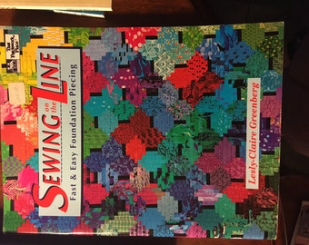 """Paper Piecing Book """"Sewing The Line"""""""