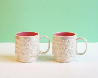 Set of vintage coffee mug