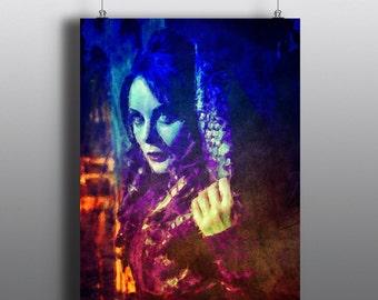 Repo! The Genetic Opera - Rock opera Art Print, Blind Mag, GeneCo Repo Man, Sarah Brightman, Watercolor Mixed Media Poster, No73