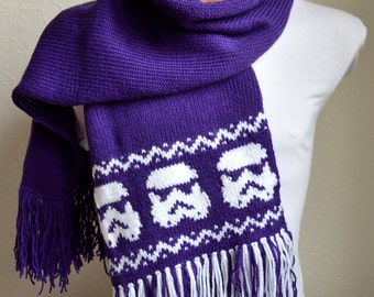 Hand knitted unisex ''Star wars'' scarf