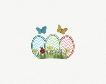 Easter Egg Applique Machine Embroidery Design - 1 Size