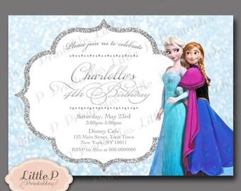 Frozen Invitation. Frozen Birthday Invitation. Frozen Party Invitation. Frozen Invitation Printable. Elsa Invitation. Snowflake Invite 066