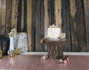 Tiered Cake Stand ~ Juniper Wood Cake Stand ~ Rustic Wedding, Barn Wedding, Rustic Cake Stand, Log Cake Stand ~ Summer Wedding (CS5015)