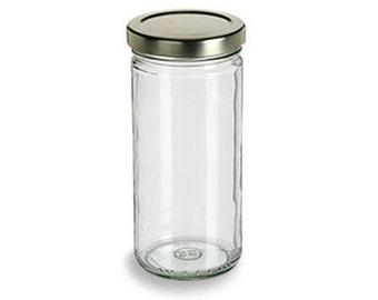 CLEARANCE (Set of 12) Blank 8 oz Glass Jars