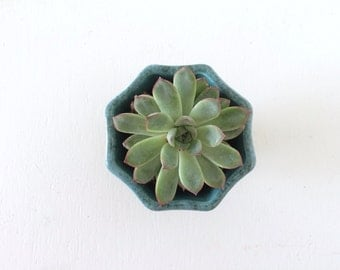 Mid Century Hull Pottery Green Ombre Pedestal Planter