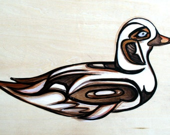 Long Tailed Duck Original Painting