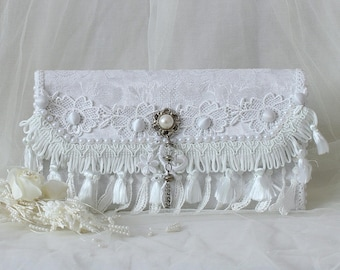 Fold Over Clutch, Bridal Clutch, Bridesmaid Clutch Purse, Wedding Clutch, White Clutch Purse, Clutch Purse, White Clutch Bag, Bridal Clutch