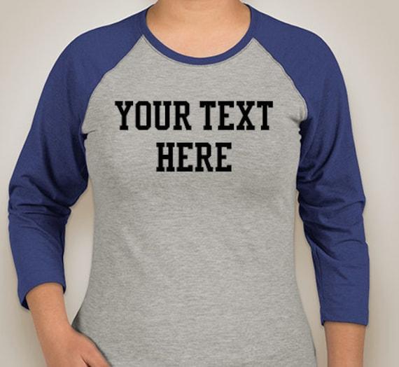 Ladies Raglan T Shirts Create Your Own Design