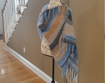 Blanket Shawl PATTERN, Crochet Blanket Scarf, Poncho, Wrap, Cowl, Scarf, Shawl with Buttons