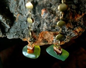 Dangle Raw Stone Earrings