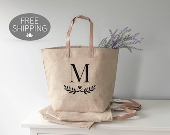 Bridesmaid Tote • Monogram Tote Bag • Monogrammed Beach Bag • Bridesmaid Gift • Tote Bags for Bridesmaids • Beach Bags • Bridesmaid Gifts