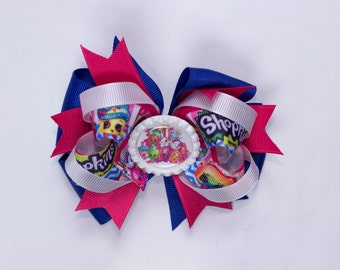 Girl hair bow Shopking bow,  hair bow, baby hair bow, toddler hair bow  girl hair bow, Shopking girl hair bow.