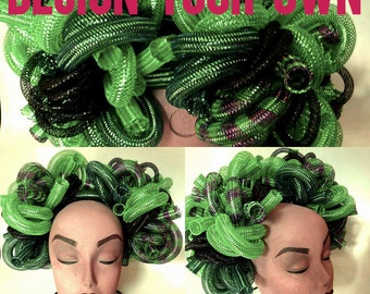 Design Your Own Set Looped Crin, Cyberlox, Cybergoth Bun Hairpiece