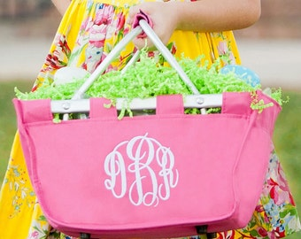 Personalized Mini Market Tote | Easter Basket | Monogrammed Market Tote | Toy Storage| Picnic Basket