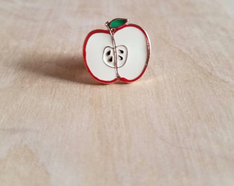 Sliced Apple Enamel Pin