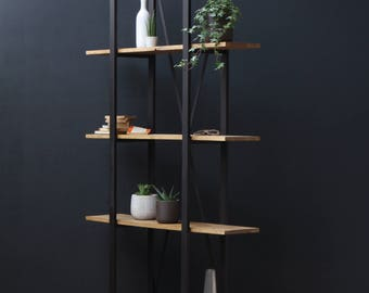 KONK! - Industrial/Moern, Oak/Steel - BOOKCASE [Bespoke sizes available!]