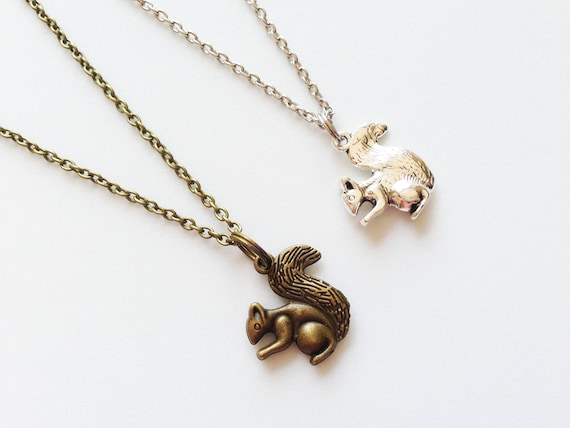 Chipmunk necklace chipmunk jewelry chipmunk pendant squirrel like this item aloadofball Gallery