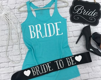 Bride Gift Set. Bride Shirt. Bride Sash. Bride To Be Sash. Bride Tank Top. Bachelorette Party Set. Bachelorette Party Bride
