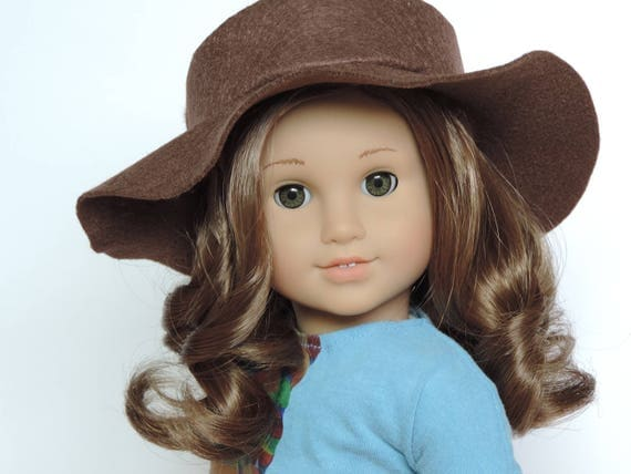 Brown Floppy Hat - 18 Inch Doll Clothes